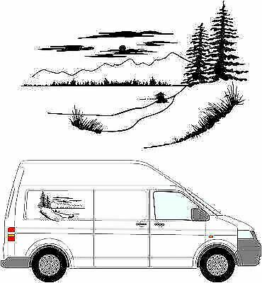 (No.116) MOTORHOME GRAPHICS STICKERS DECALS CAMPER VAN CARAVAN UNIVERSAL FITTING